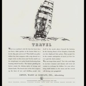 1936 Erwin, Wasey & Co. Vintage Ad | Clipper Ship Art