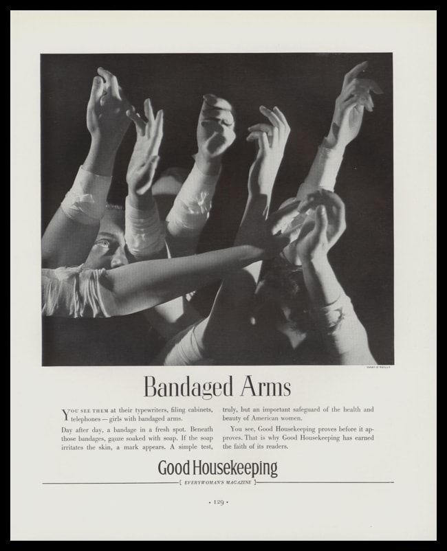 1936 Ad Good Housekeeping Magazine | Bandaged Arms
