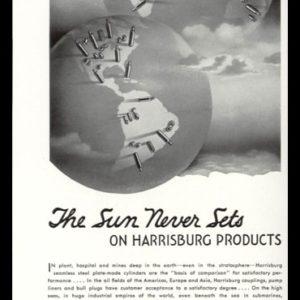 1936 Harrisburg Steel Vintage Ad | Globe Art