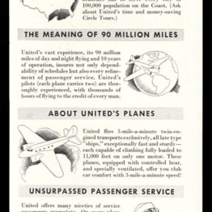 1936 United Air Lines Vintage Ad | Facts About Air Travel