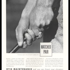 1938 Otis Elevator Maintenance Vintage Ad | Golf Grip