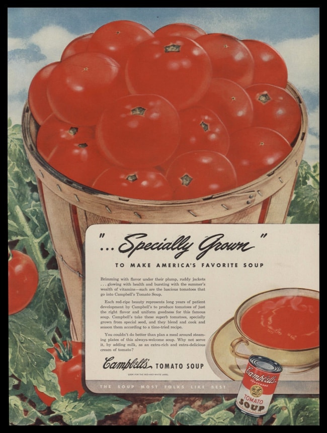 1946 Ad Campbell's Tomato Soup | Specially Grown