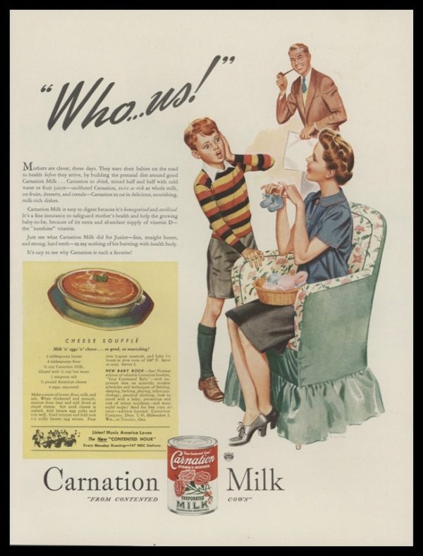 1946 Carnation Milk Vintage Ad | K. Gunnor Petersen Art