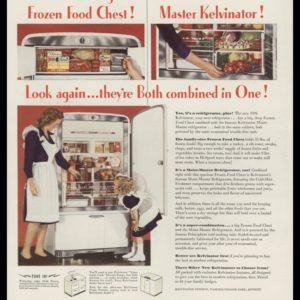 1946 Kelvinator Vintage Ad | Refrigerator - Freezer Combo