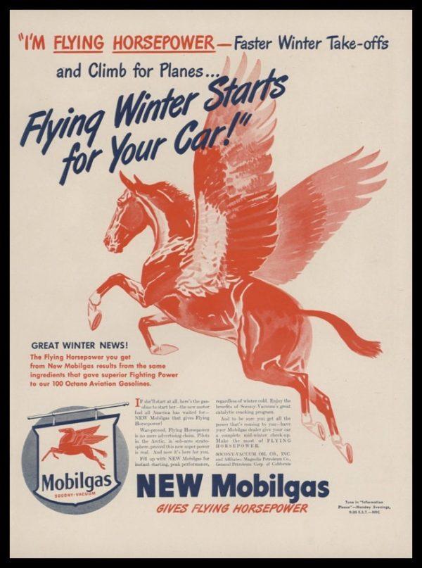 1946 Mobilgas Vintage Ad | Pegasus Art