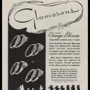 1946 Ad Orange Blossom Engagement & Wedding Rings