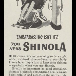 1946 Shinola Shoe Polish Vintage Ad | Dentist Art