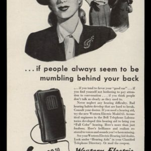 1946 Western Electric Model 63 Hearing Aid Vintage Ad