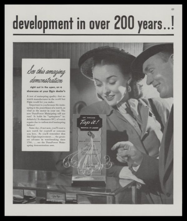 1947 Elgin Watches 2-Page Vintage Print Ad - Lord & Lady Elgin Watches Pg. 2