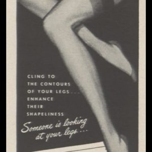 1948 Alba Nylon Stockings Vintage Ad | Hug Snug