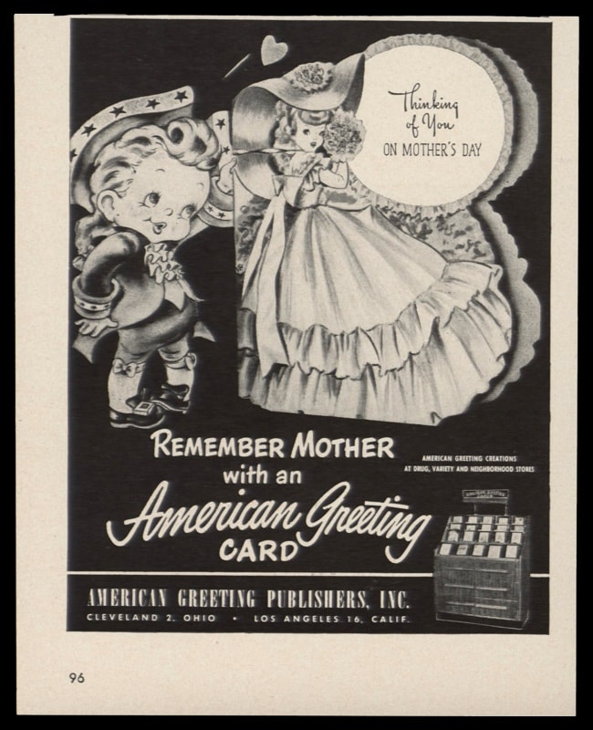 1948 Ad American Greeting Card | Remember Mother