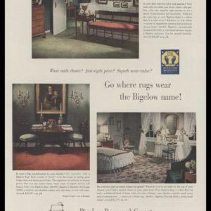 1948 Bigelow Rugs & Carpets Vintage Ad