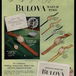 1948 Bulova Watches Vintage Ad - His & Her Excellency Line