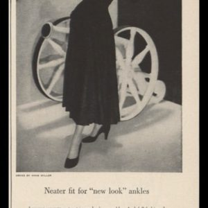 1948 Cannon Nylon Stockings Vintage Ad - Anna Miller Dress