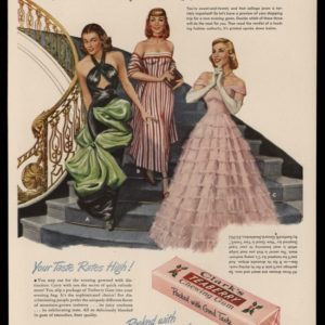 1948 Ad Clark's Teaberry Chewing Gum | Prom Gowns