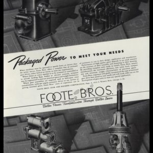 1948 Foote Bros. Gear and Machine Vintage Ad - Transmissions
