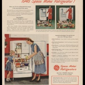 1948 GE Refrigerators Vintage Ad | Space Maker