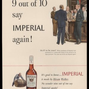 1948 Imperial Whiskey Vintage Ad | Barroom Art