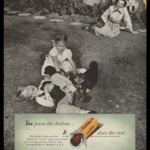 1948 Ad Kodak Verichrome Film | Children w/ Puppies