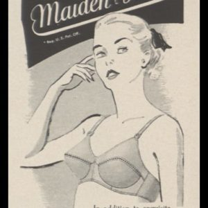 1948 Maidenform Bra Vintage Ad | Allegro Model