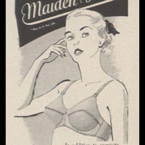 1948 Maidenform Bra Vintage Ad | Allegro Model