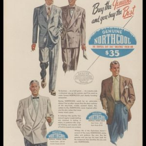 1948 Northcool Suits Vintage Ad | Tropical Suits