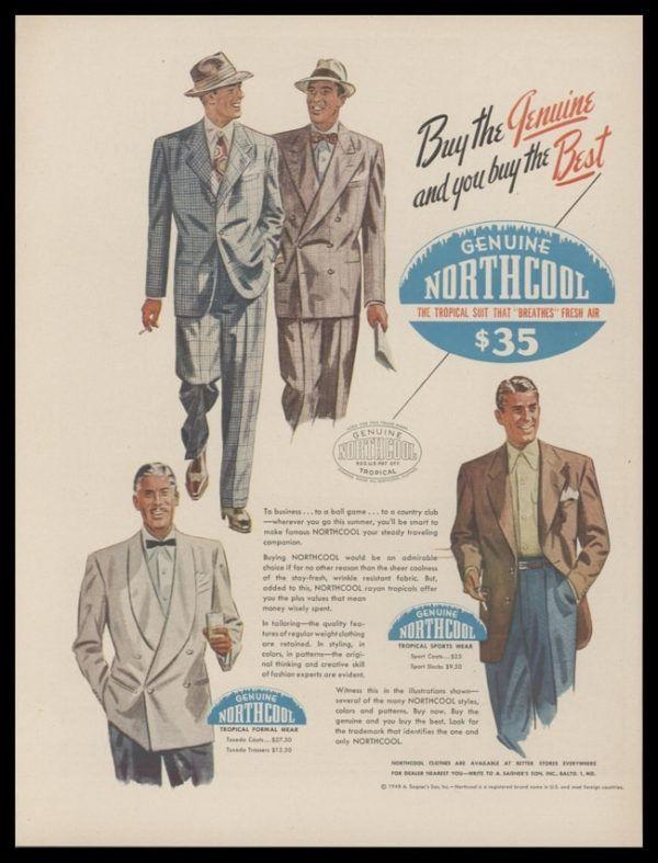 1948 Northcool Suits Vintage Ad   Tropical Suits