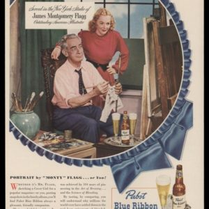 1948 Ad Pabst Blue Ribbon | James Montgomery Flagg