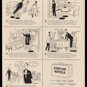 1946 Statler Hotels Vintage Ad | Hotel Pennsylvania