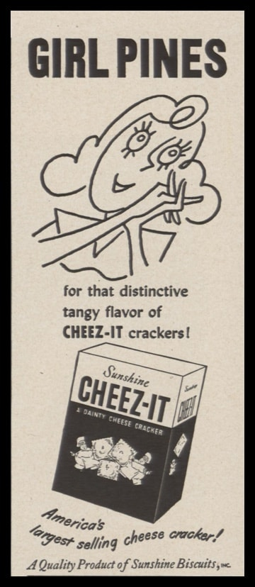 1948 Sunshine Cheez-it Crackers Vintage Ad | Girl Pines