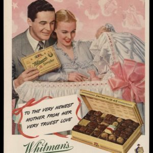 1948 Ad Whitman's Sampler Chocolates | Mother's Day