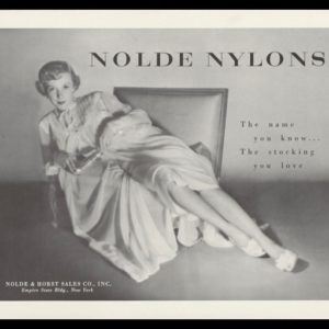 1950 Nolde Nylon Stockings Vintage Ad