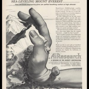 1953 AiResearch Mfg Co Vintage Ad | Mt. Everest Art