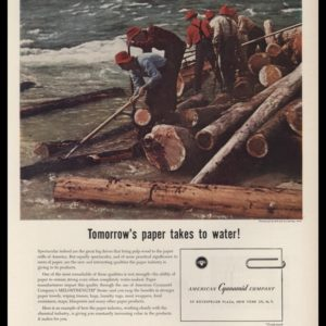 1953 American Cyanamid Vintage Ad | Log Drive