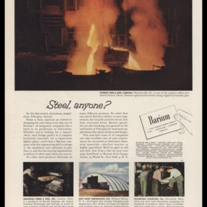 1953 Barium / Phoenix Iron & Steel Co. Vintage Ad