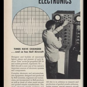 1953 Bell Aircraft Corp Vintage Ad | Aviation Electronics