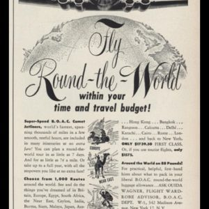 1953 British Overseas Airways Vintage Ad | Airplane Art