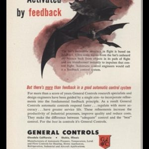 1953 General Controls Vintage Ad | Bat Art