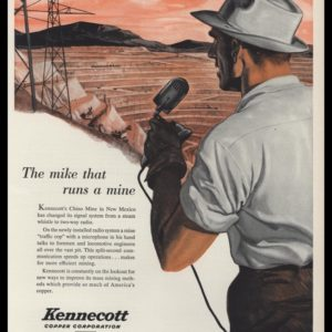 1953 Kennecott Copper Corp. Vintage Ad | Chino Mine NM