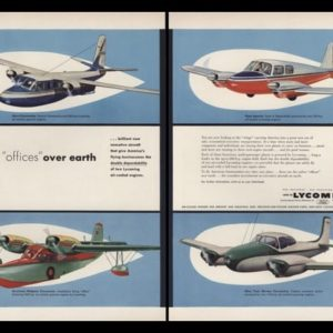 1953 Lycoming Vintage Ad | Twin Engine Prop Planes