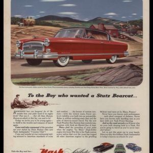 1953 Nash Ambassador Country Club Vintage Ad
