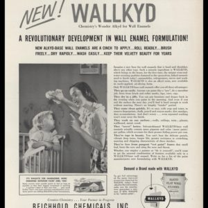 1953 Wallkyd Enamel Paint Vintage Ad | Toddler
