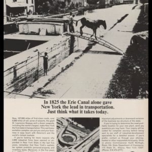 1965 NY State Dept. of Commerce Vintage Ad | Erie Canal