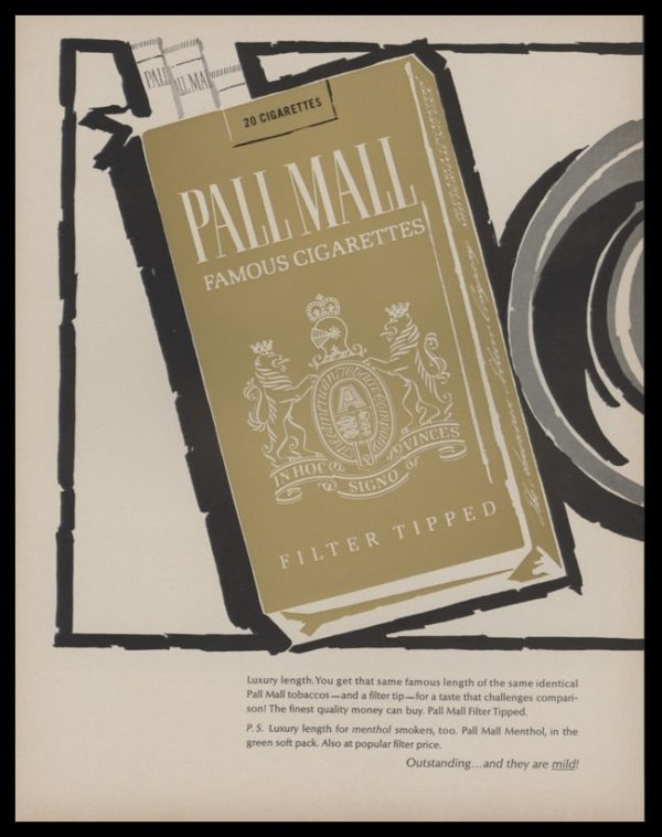"""1966 Pall Mall Cigarettes 2 Page Vintage Print Ad - """"New Luxury Length"""" - Page 1"""
