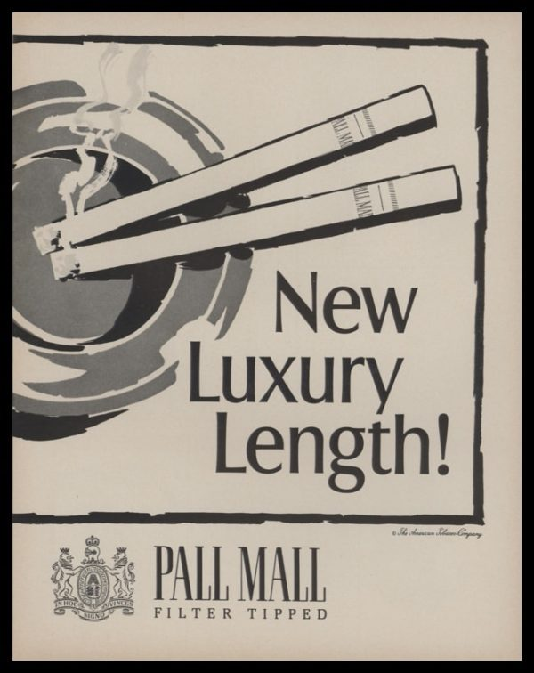 """1966 Pall Mall Cigarettes 2 Page Vintage Print Ad - """"New Luxury Length"""" - Page 2"""