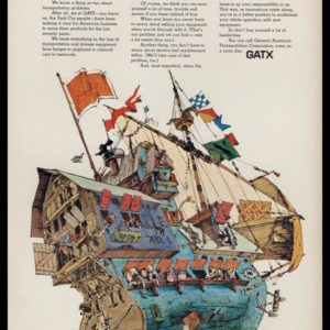 1969 GATX General American Transportation Vintage Ad - Noah's Ark Art