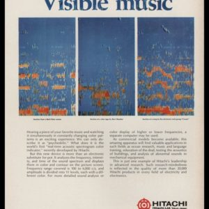 1969 Hitachi Spectrograph Vintage Ad | Visible Music