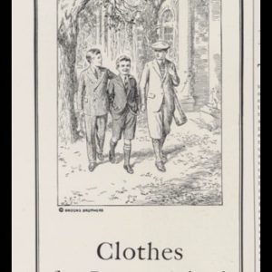 1928 Brooks Brothers Clothing Vintage Ad | Boys Clothing