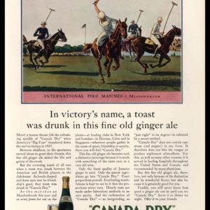 1928 Canada Dry Ginger Ale Vintage Ad | Polo Match Art
