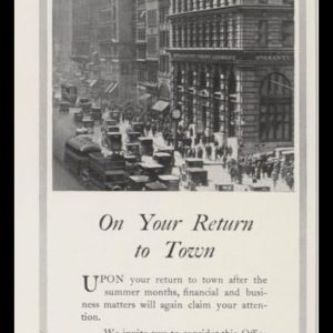 1928 Guaranty Trust Vintage Ad | 5th ave & 44th st photo